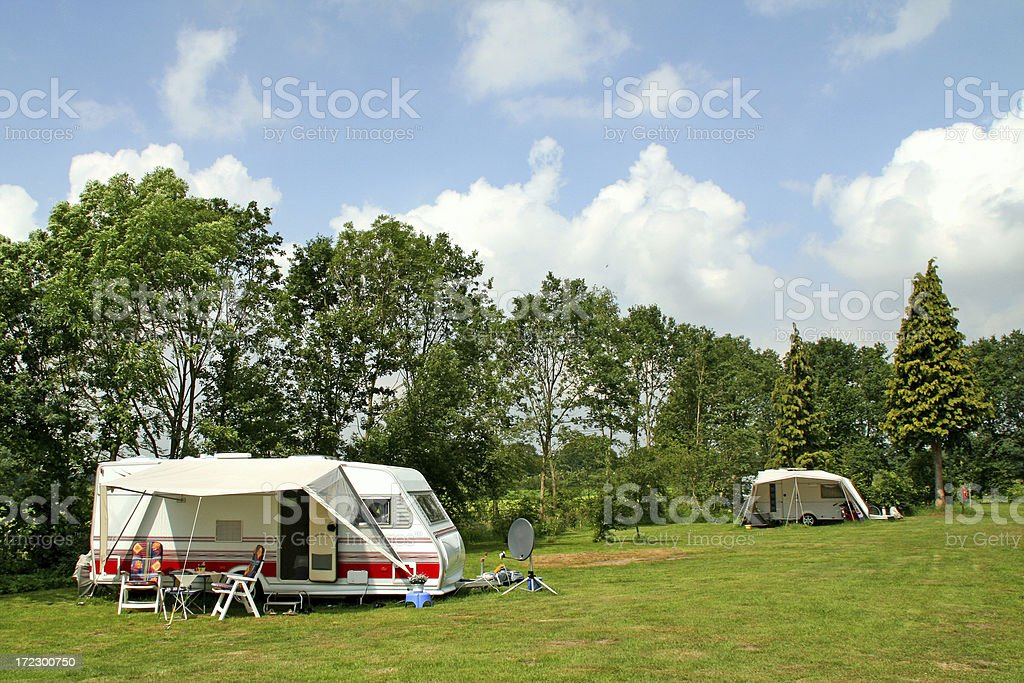Camping with caravans # 2 royalty-free stock photo