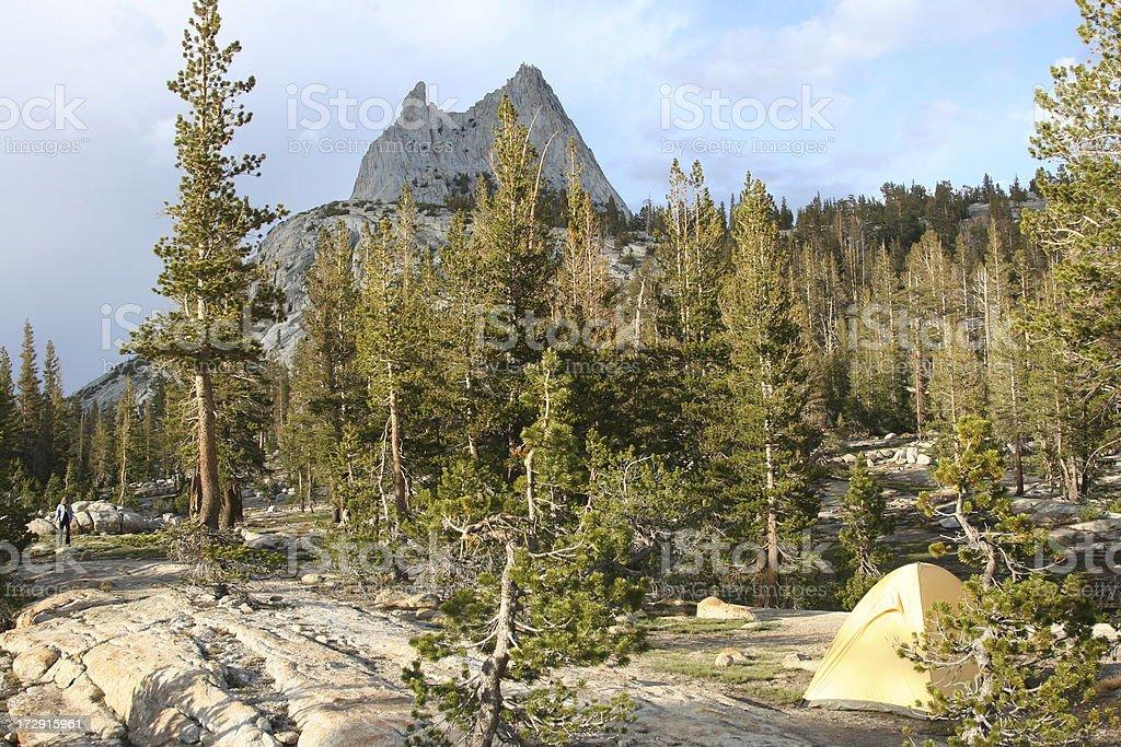 Camping Yosemite Backcountry stock photo