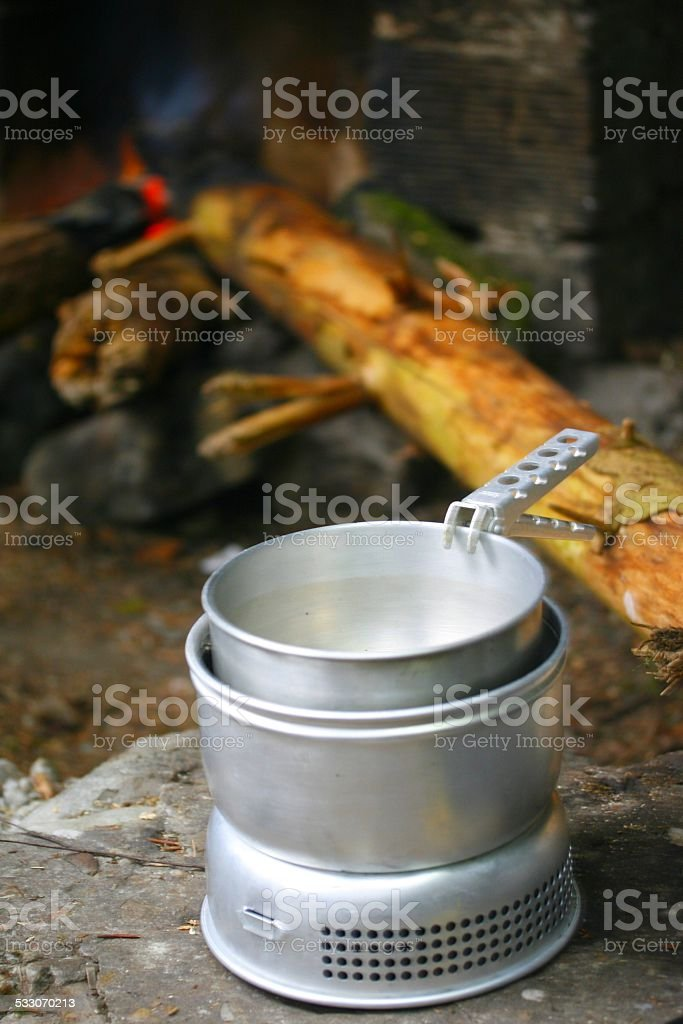 Campingkocher stock photo