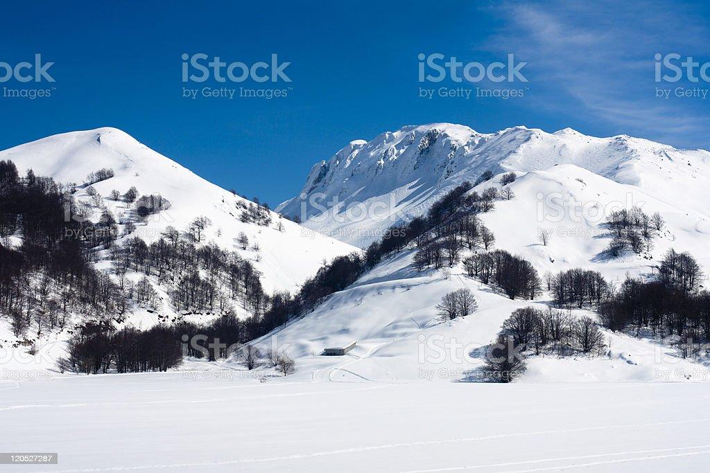 Campitello Matese Ski Resort stock photo