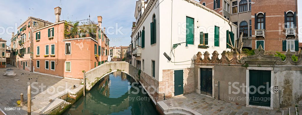 Campo and canal Venice royalty-free stock photo