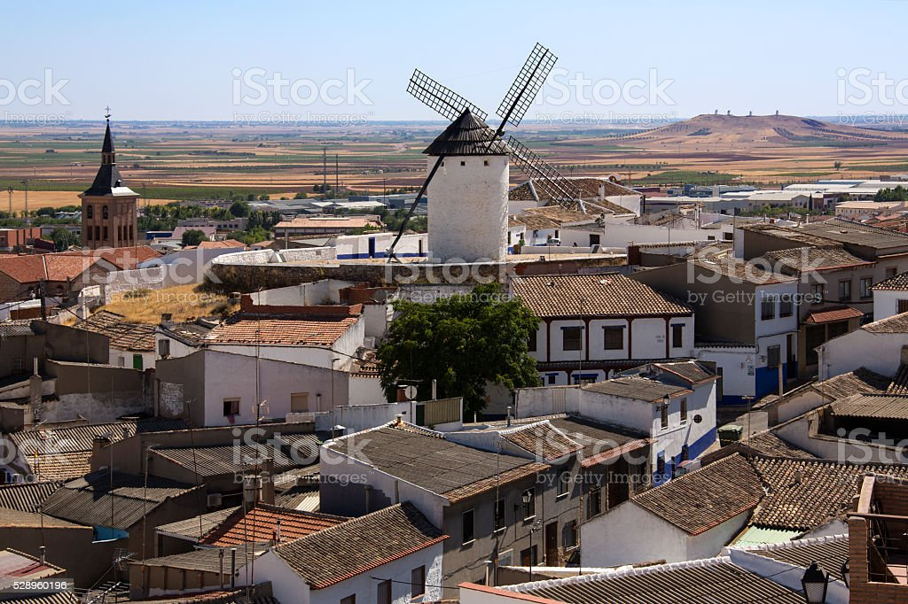 Campo de Criptana - La Mancha - Spain stock photo
