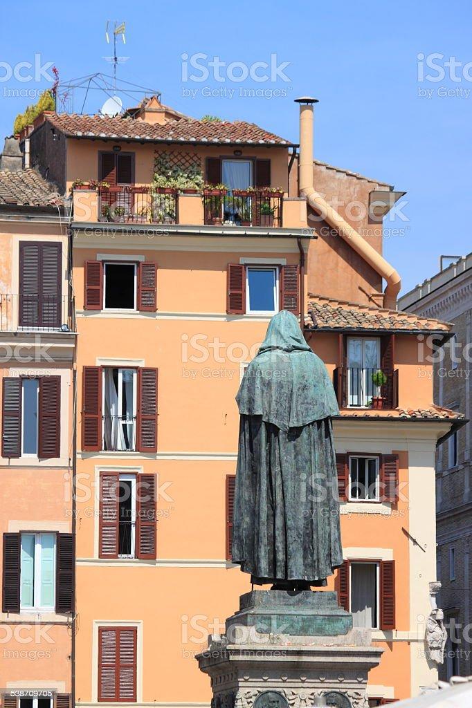 Campo dei Fiori square in Rome stock photo