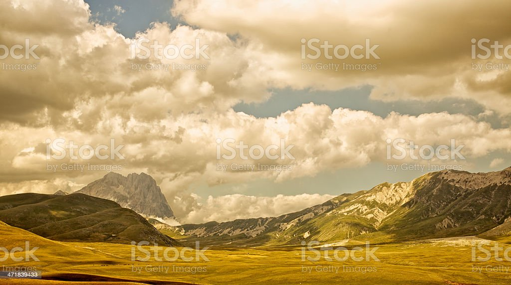 Campo Imperatore At Sunset royalty-free stock photo