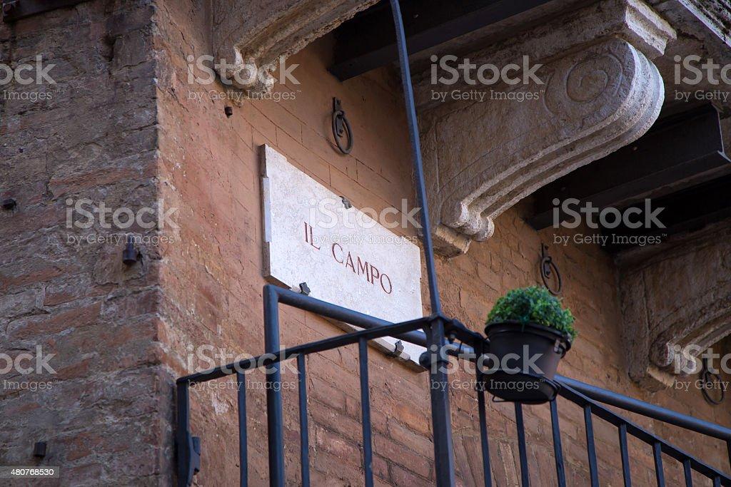 Campo Square, Siena stock photo