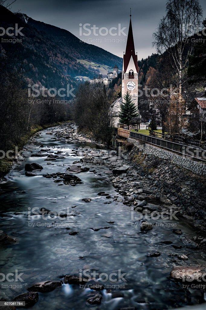 Campo Tures on the italian Alps - Dolomiti stock photo