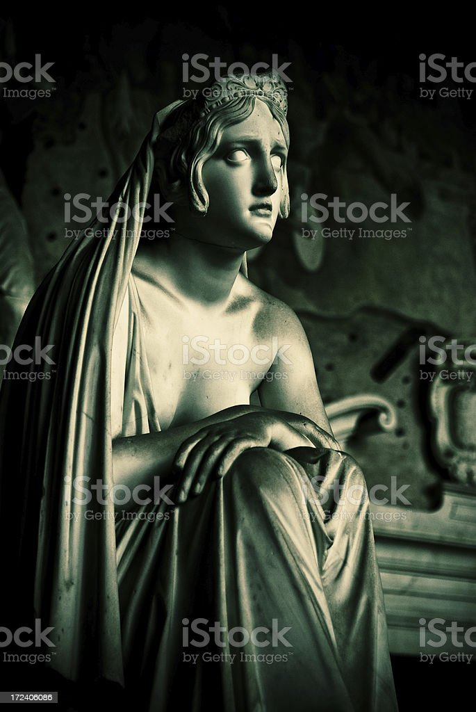 Camposanto Monumentale statue stock photo