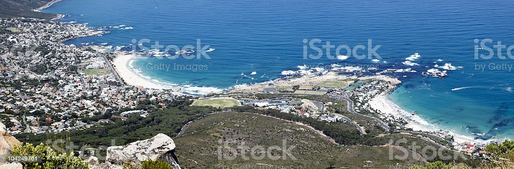 Camps Bay and Clifton royalty-free stock photo