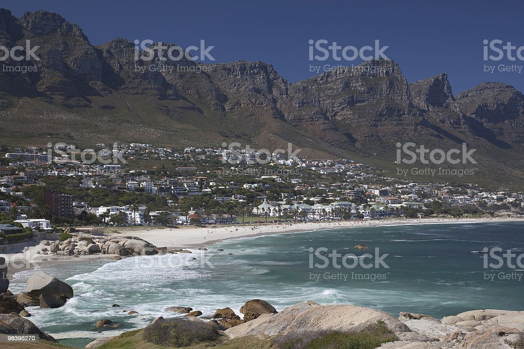 Camps Bay and the Twelve Apostles stock photo
