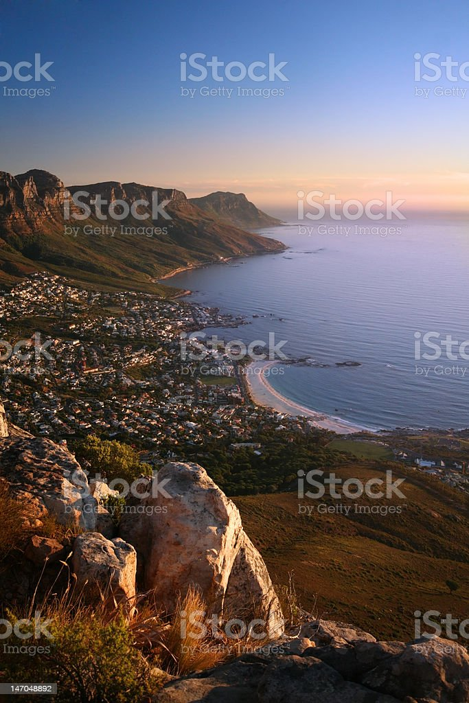 Camps bay and twelve opostles stock photo