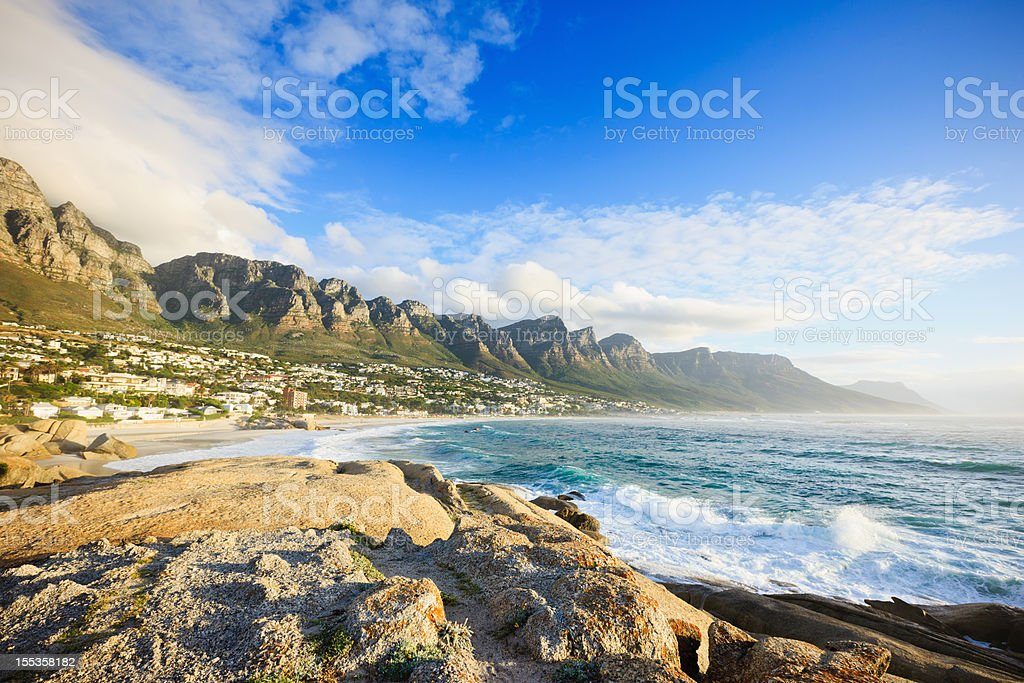 Camps Bay Beach Table Mountain Cape Town South Africa royalty-free stock photo