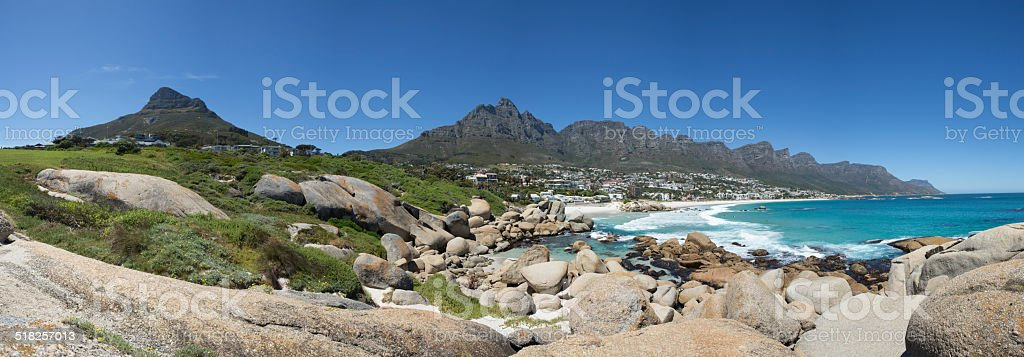 Camps Bay Cape Town stock photo