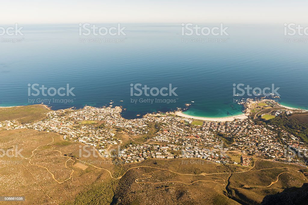 Camps Bay, Cape Town, South Africa stock photo