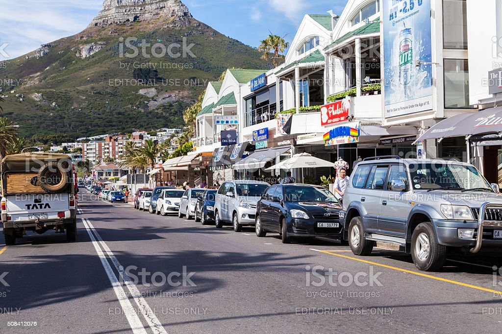 Camps Bay in Cape Town, South Africa stock photo
