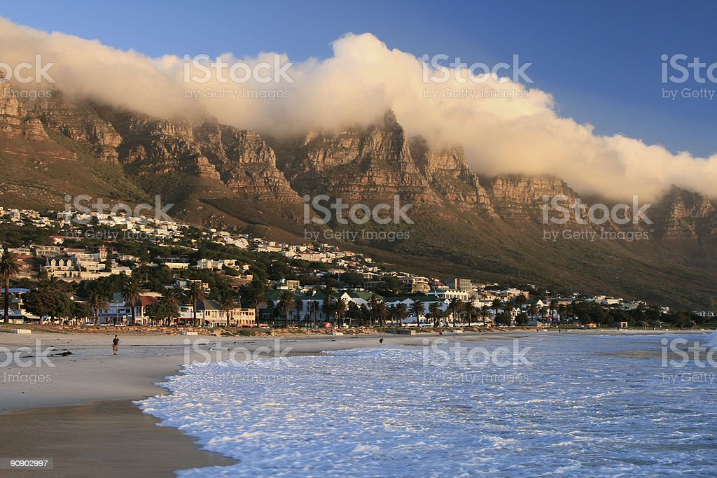 Camps Bay in Cape Town, South Africa royalty-free stock photo