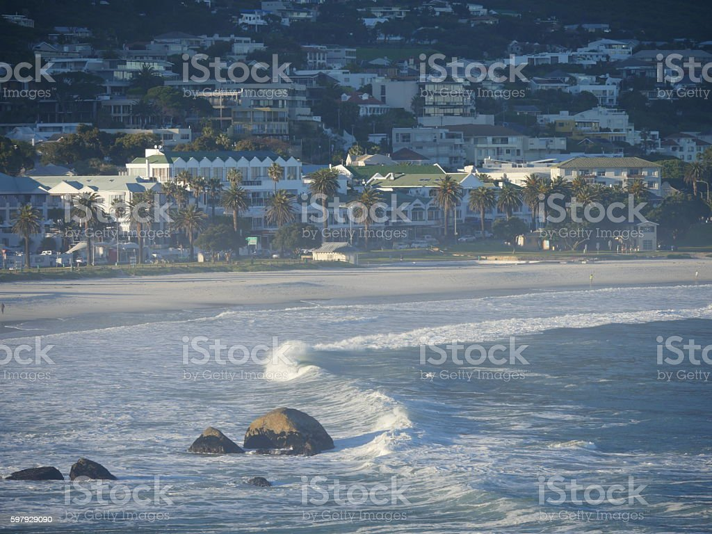 Camps Bay of Cape Town stock photo