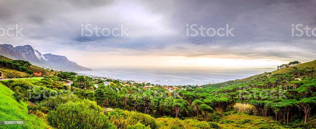 Camps Bay panorama stock photo