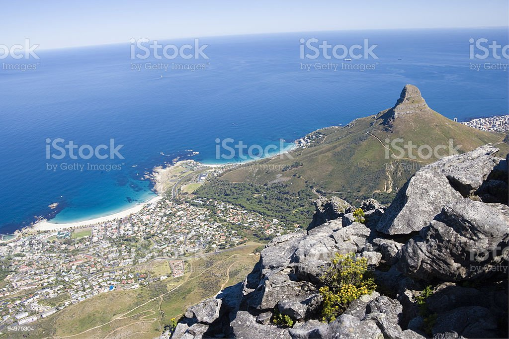 Camps Bay taken from Table Mountain royalty-free stock photo