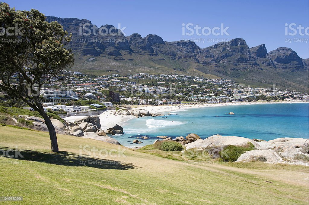 Camps Bay, Western Cape, South Africa royalty-free stock photo