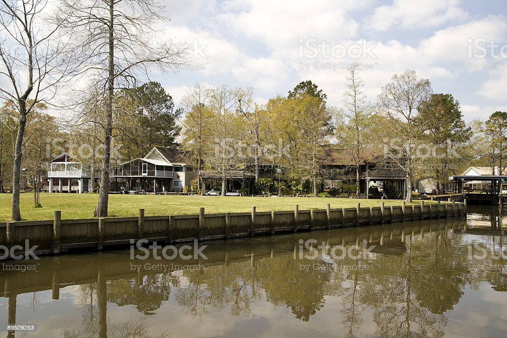 Camps on the River royalty-free stock photo