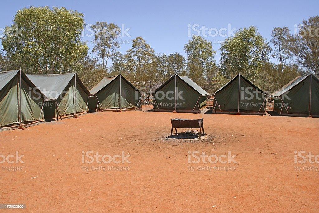 campsite in Australian Outback, Australia royalty-free stock photo