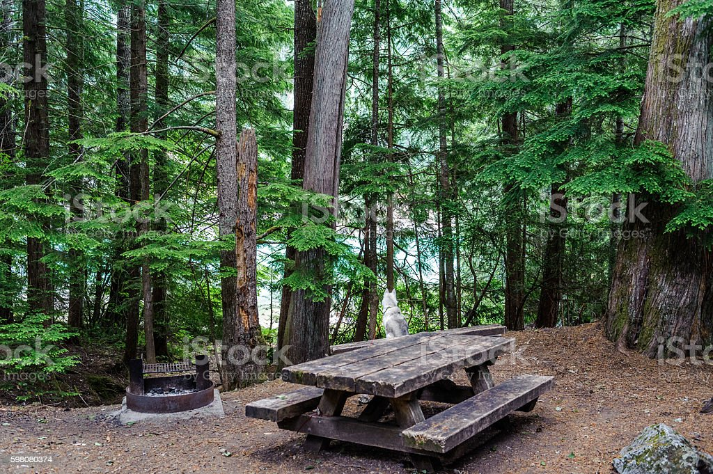campsite of  of North Cascades National Park stock photo