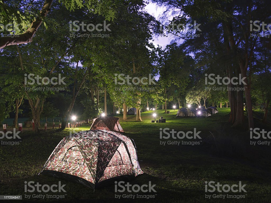 Campsite. royalty-free stock photo