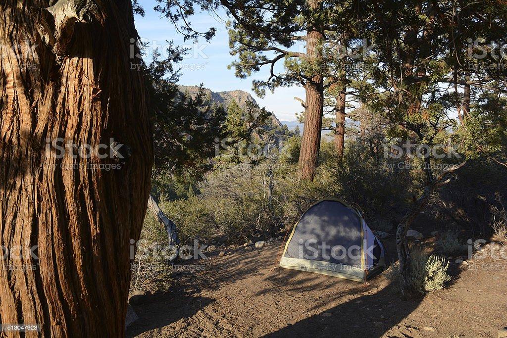 Campsite Sonora Bridge royalty-free stock photo