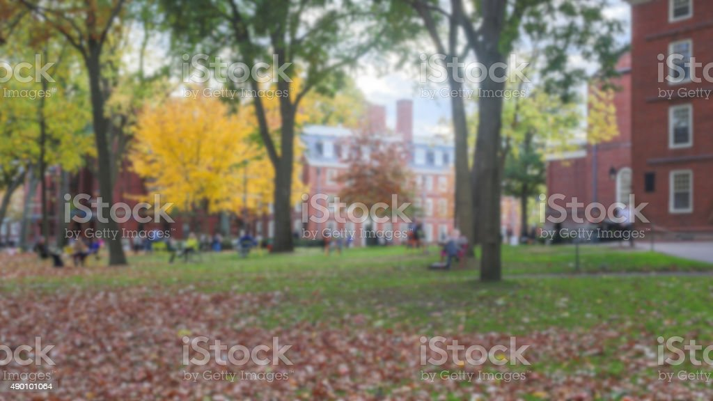 Campus Blur stock photo