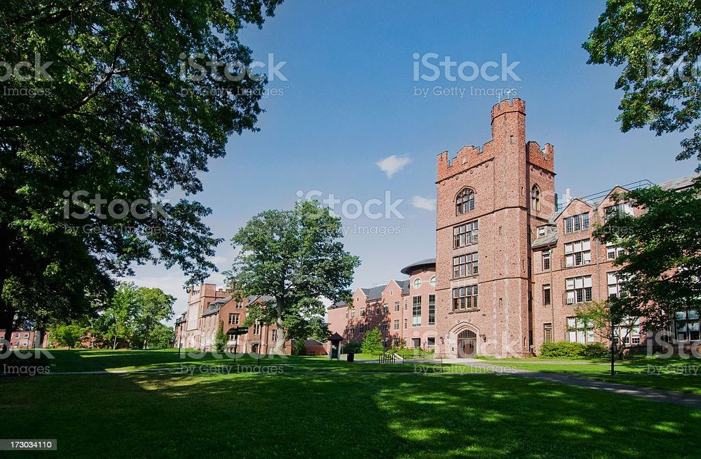 A campus building at Mount Holyoke College, Massachusetts royalty-free stock photo