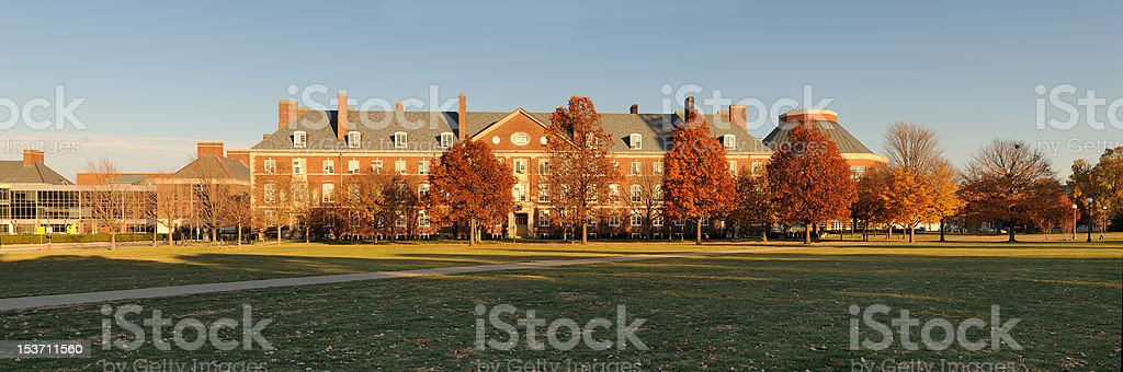 Campus building panoramic royalty-free stock photo