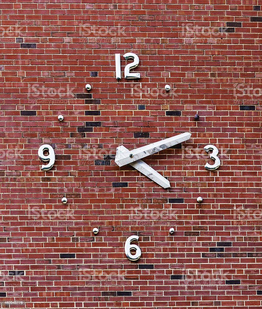 Campus clock stock photo