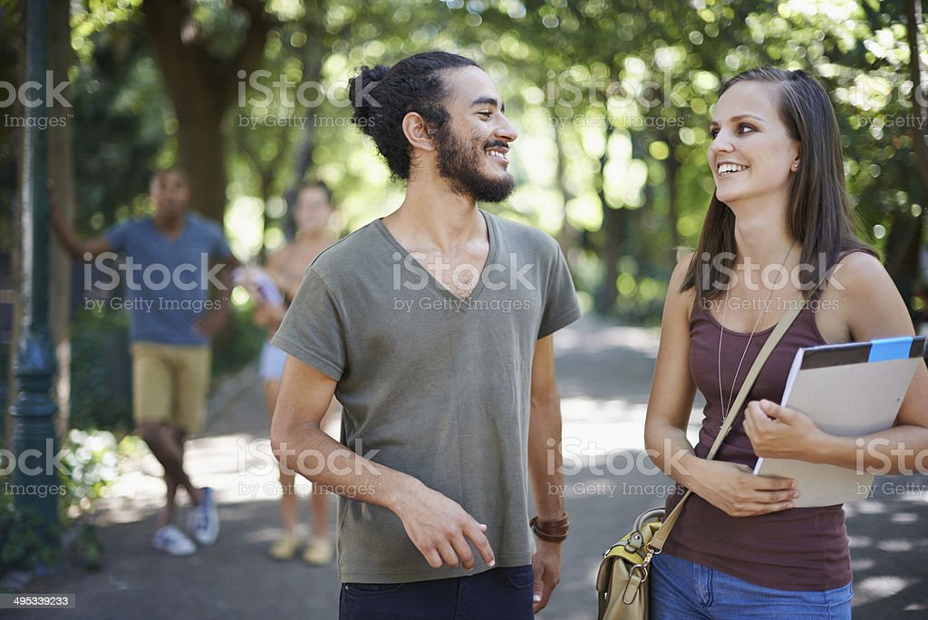 Campus conversations royalty-free stock photo