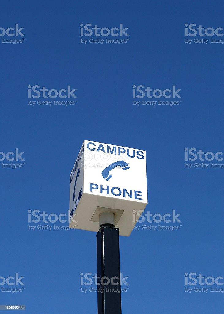 Campus Emergency Phone royalty-free stock photo