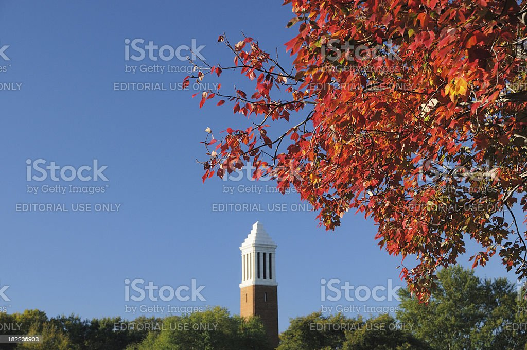 Campus in fall with copy space stock photo