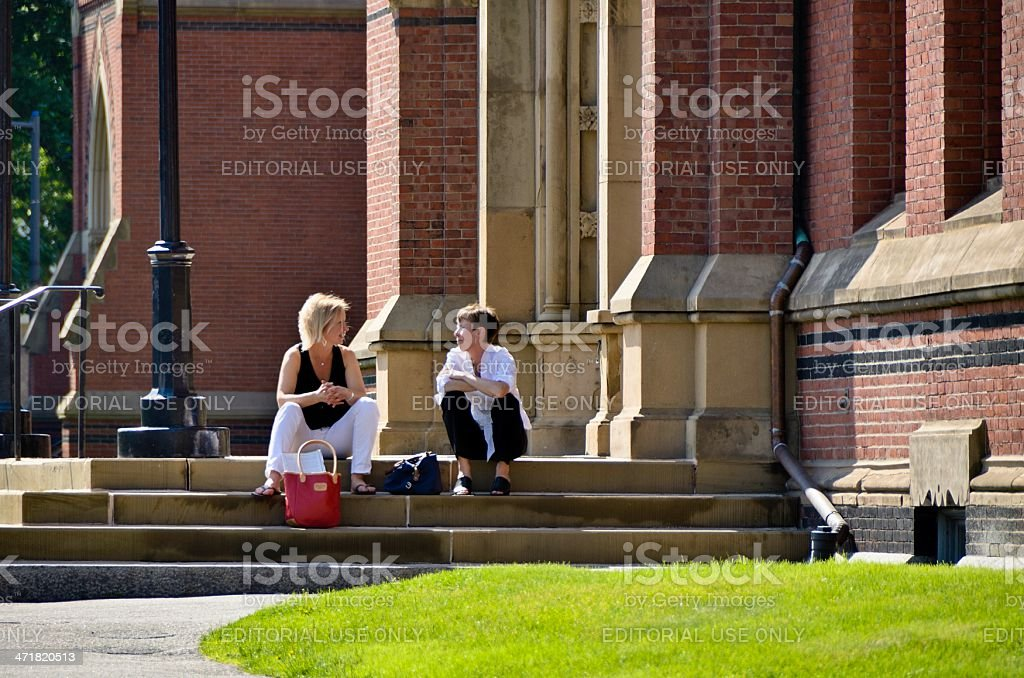 Campus Life, Harvard University stock photo