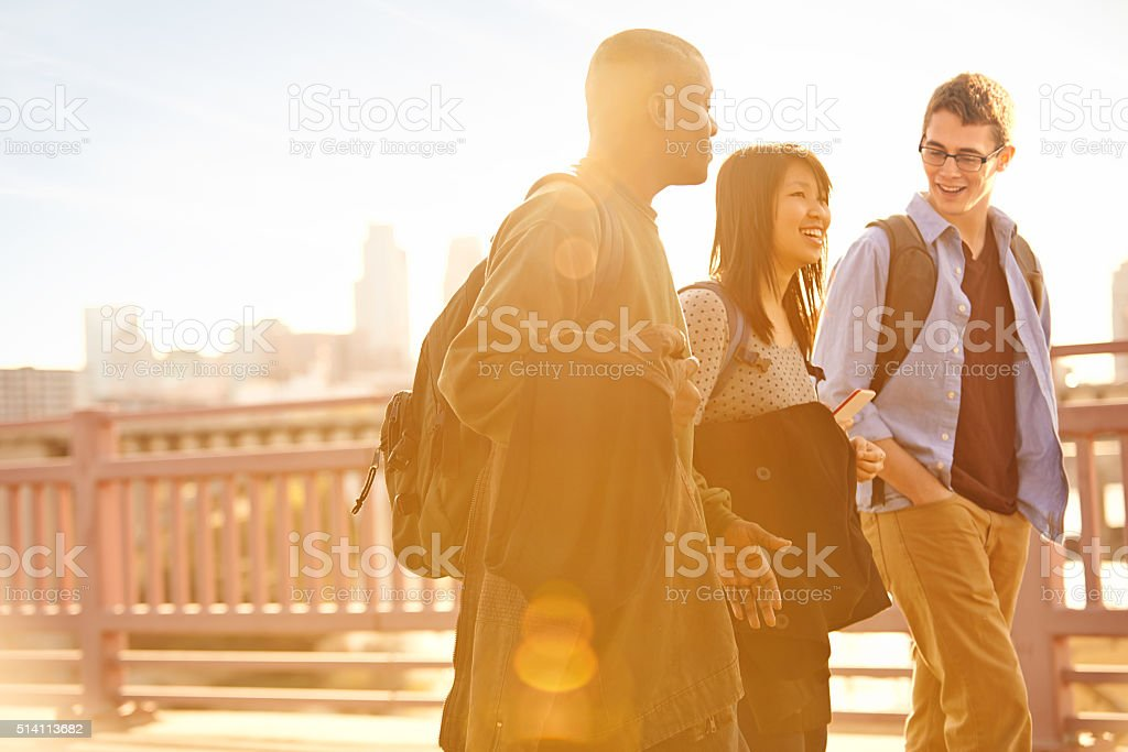 Campus life stock photo