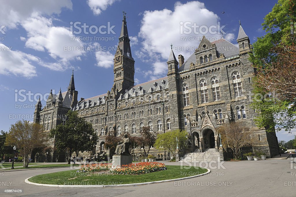 Campus of Georgetown University stock photo