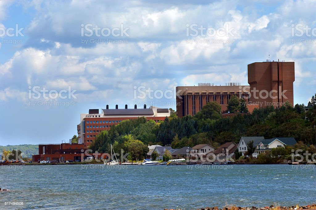 Campus of Michigan Technological College stock photo