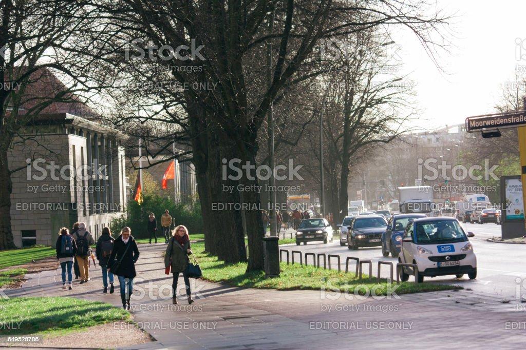 Campus of The University of Hamburg stock photo