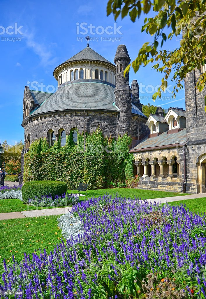 Campus of Toronto University in autumn in Toronto stock photo