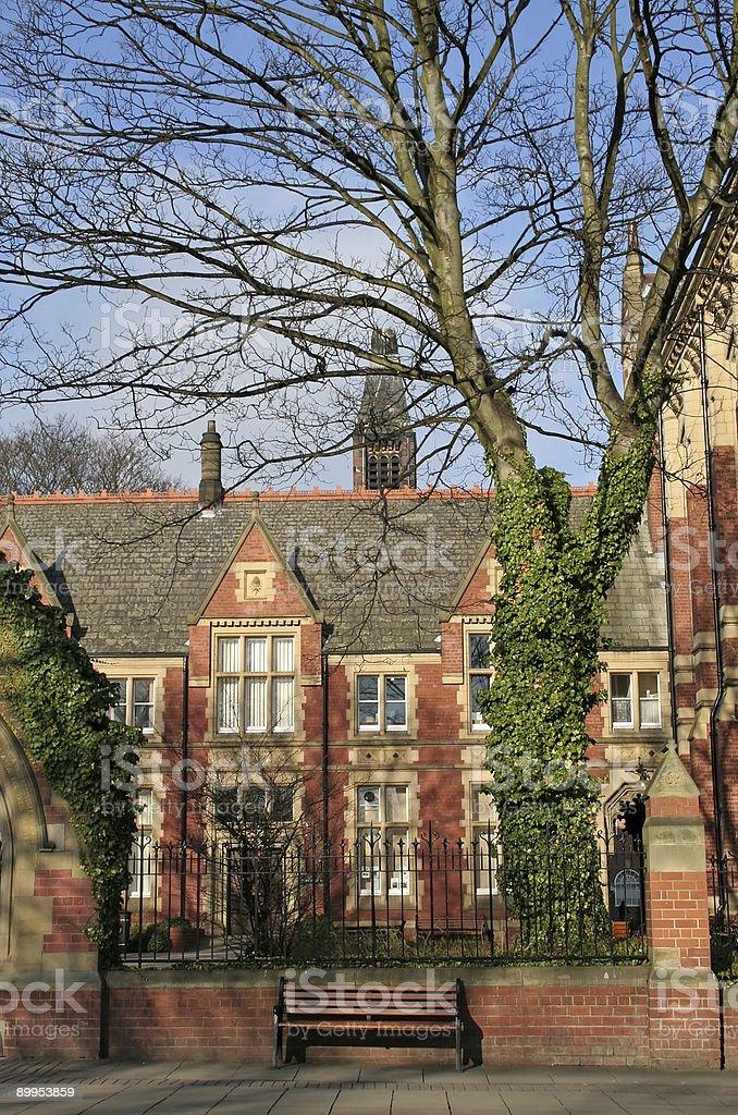 Campus of University royalty-free stock photo