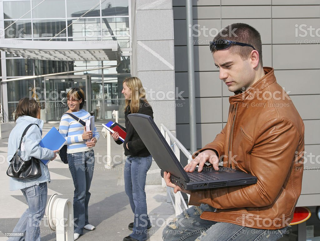 Campus royalty-free stock photo