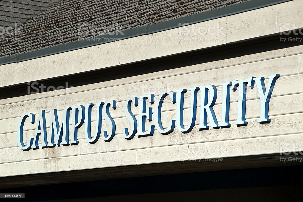 Campus Security Sign royalty-free stock photo