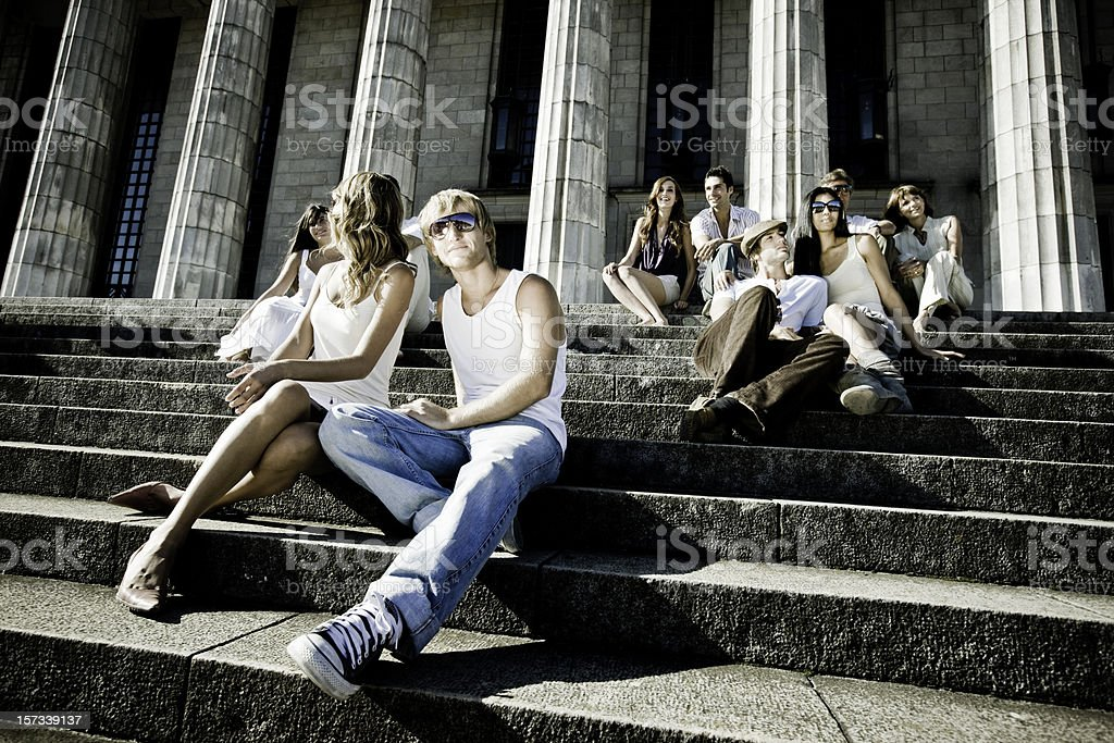 Campus Students royalty-free stock photo