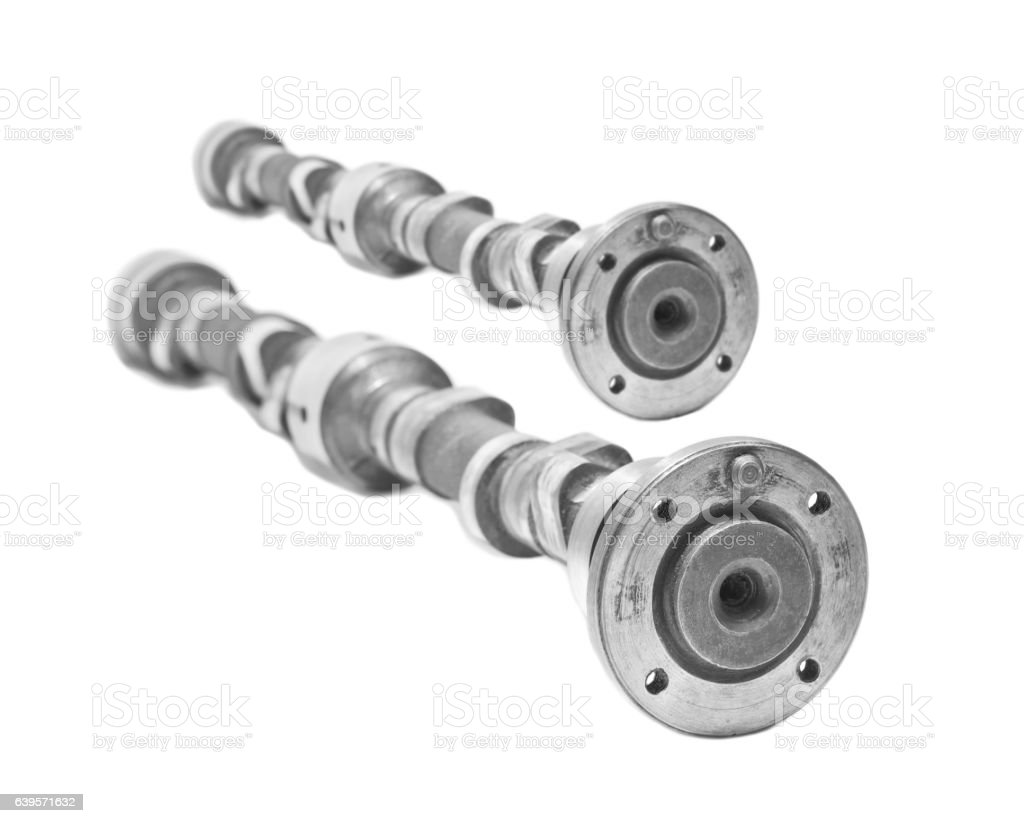 Cam-shaft of the engine stock photo