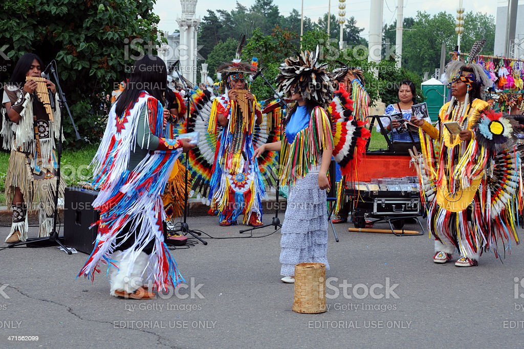 Camuendo Wuambrakuna Folk Group royalty-free stock photo