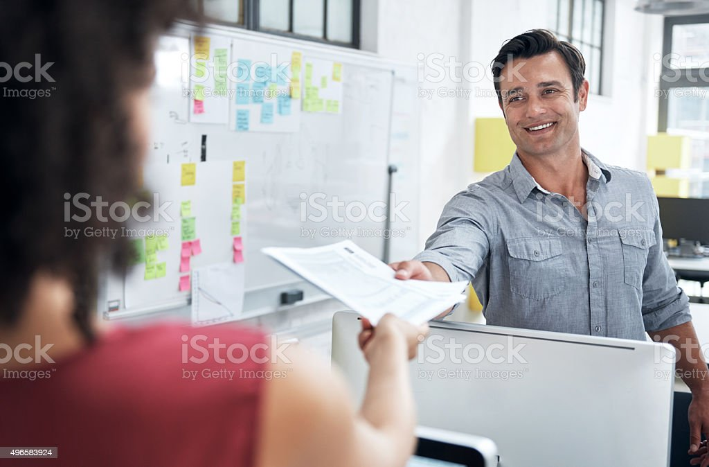 I can always count on you to deliver on time stock photo