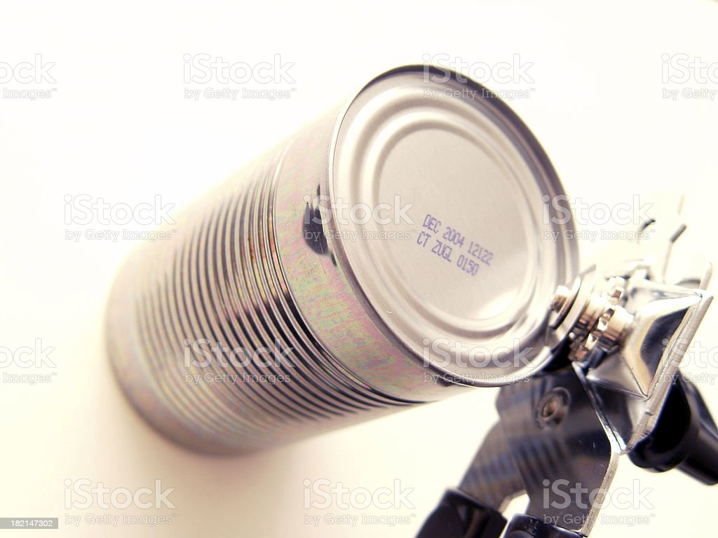 Can being opened. stock photo