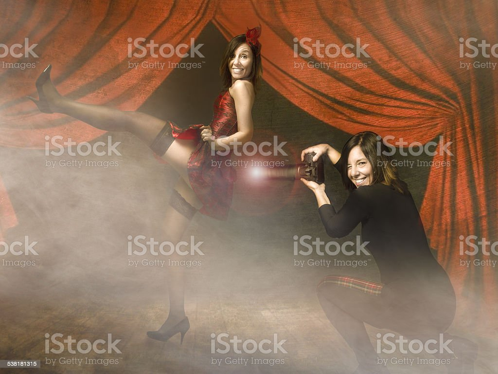 can can dance for a burlesque star stock photo